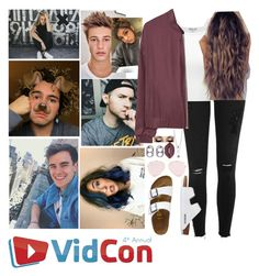 """Vidcon 2017"" by loubear223 ❤ liked on Polyvore featuring River Island, MANGO, TravelSmith, Marc Jacobs and Lime Crime"