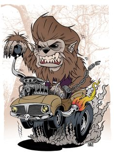 Wolf-fink, another Ed 'Big Daddy' Roth inspired piece. (2011)