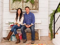HGTV hosts Joanna and Chip Gaines celebrate the season at home in Texas. They show HGTV Magazine around how to decorate with the casual charm they've trademarked on their show.