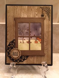 Halloween Window Scene by Provinca - Cards and Paper Crafts at Splitcoaststampers