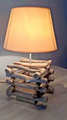 StyleLamp industriel lampe en bois flotté lampe par RusticHouse11