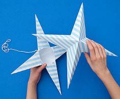 DIY Paper Star @Phyllis Simons Simons Garcia magazine