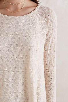 Feathered Lace Pullover - anthropologie.com