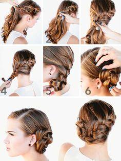 long hair wedding braid