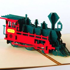 3D pop up laser cut cards vintage train creative gifts postcard birthday Children's day greeting cards for lovers 4012G-in Paper Crafts from Home & Garden on Aliexpress.com | Alibaba Group