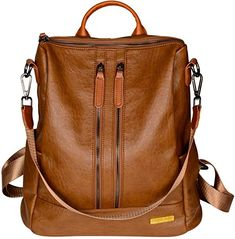 HapiLeap Women Backpack PU Leather Fashion Backpack Travel Casual Detachable Covertible Ladies Shoulder Bag (Brown): Amazon.co.uk: Shoes & Bags Travel Backpack, Fashion Backpack, Leather Fashion, Pu Leather, Leather Bag Tutorial, Bags Uk, Buy Shoes, Natural Leather, Online Bags
