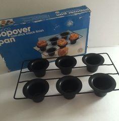 Vintage Rowoco Popover Pan Cups 2321 Taiwan 1985 Non Stick Excellent | eBay