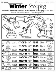 Printables Comparison Shopping Worksheets toy shopping counting pennies and comparing numbers kinderland more or less numbers