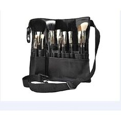 83122038f90 Professional Makeup Brush Bag Case Portable 22 Pockets PU Leather Cosmetic  Brush Holder Organizer with Artist