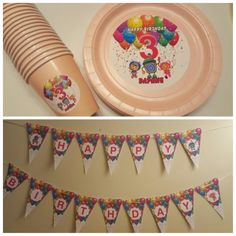 Personalized Team Umizoomi plates cups and banner
