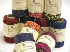 """EVERLASTO """"BEAUTIFUL"""" TWO TONE BAKERS TWINE in 26 COLOURS"""