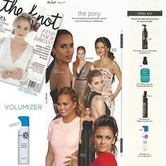 Thanks so much to @theknot for featuring our Miracle Blowdry Volumizer in your fall issue! #TrulyMiracleHaircare #bridalbeauty