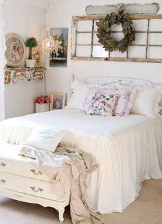 Ruffle Skirt Bedspread Set - My new room - Bedroom Decor Shabby Chic Master Bedroom, Farmhouse Master Bedroom, Stylish Bedroom, Master Bedroom Design, Bedroom Vintage, Home Decor Bedroom, Country Girl Bedroom, Antique Bedroom Decor, Country Chic Bedding