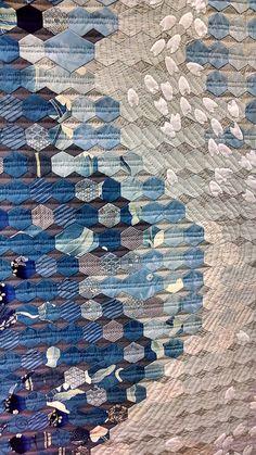 Tokyo Quilt Festival. Water quilt.