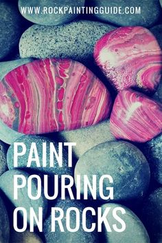 Pouring on Rocks Made Easy [Rock Painting Beginners] Rock Painting Guide features a new tutorial on Paint Pouring on Rocks made easy for beginners.Rock Painting Guide features a new tutorial on Paint Pouring on Rocks made easy for beginners. Acrylic Pouring Techniques, Acrylic Pouring Art, Acrylic Art, Pebble Painting, Dot Painting, Pebble Art, Knife Painting, Stone Crafts, Rock Crafts