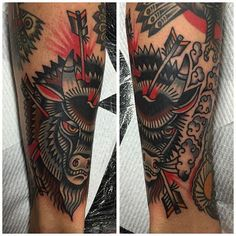 Buffalo Tattoo by Will Duncan #Buffalo #BuffaloTattoo #Bison…