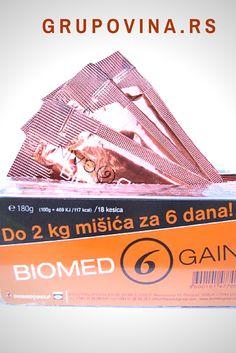 Biomed 6 Gain - prirodni preparat za povećanje mišićne mase Za 6 dana mišićna masa se povećava i do 2kg Utiče na povećanje apetita, sprečava da se dobijeni kilogrami izgube, preparat blagotvorno deluje protiv smetnji sa organima za varenje, pomaže u rešavanju problema malokrvnosti i poboljšava opšte stanje organizma. 930 dinara.
