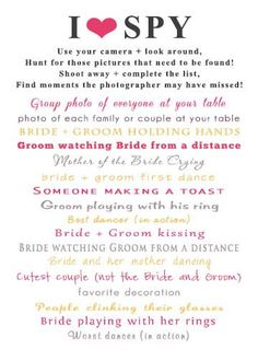The kissing menu printable for wedding receptions stevi sayler printable i spy cards for wedding receptions by notableaffairs 1500 i just printed mine and maxwellsz