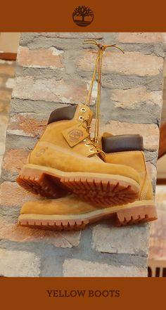 Yellow Boots na Timberland de São Paulo, lojas Oscar Freire.