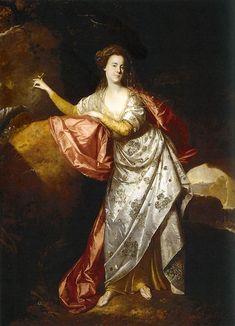 Portrait of Ann Brown in the Role of Miranda by Johann Zoffany