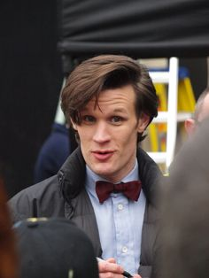 Matt Smith, the Eleventh Doctor. Great hair!