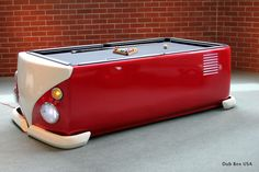 dub box makes a pool table that looks like an old vw bus! So cool $5500
