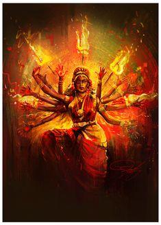 ArtStation - Durga, Srikanth M Lord Durga, Durga Ji, Saraswati Goddess, Goddess Art, Divine Goddess, Shiva Hindu, Hindu Deities, Hindu Art, Kali Shiva