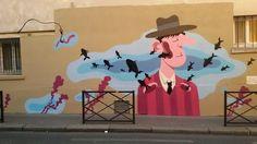 Street art in Paris (Rue du Retrait - 20), France, by artist MR.PEE. Photo by…