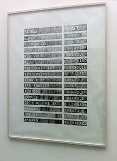 Alicia Framis, Departures, 2013, pencil on paper, 155.7 x 117.7 cm