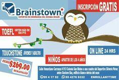 ¡Que esperas! Inscripción gratis solo en Brainstown English Aprende inglés en 1 año 3 meses en Brainstown English. https://www.facebook.com/profile.php?id=100006773055347&fref=ts
