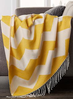 Shop our knit throw blankets, fleece throw blankets, and fur throw blankets that'll keep you warm and beautify the home and all its spaces! Acrylic Fiber, Chevrons, Knitted Throws, Fleece Throw, Herringbone, Yellow, Throw Blankets, Bedding, Calm