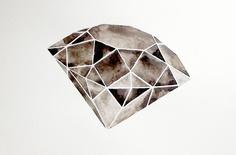 Geometric Diamond  Original Watercolor by GeometricInk on Etsy, $90.00
