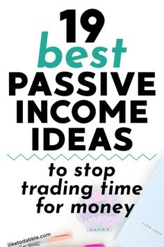 19 Passive Income Ideas to Stop Trading Time for Money in iliketodabble Online Income, Earn Money Online, Make Money Blogging, Online Earning, Money Tips, Online Jobs, Passive Income Streams, Creating Passive Income, Creating Wealth