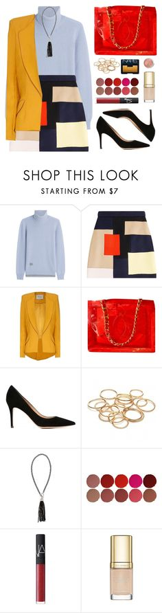 Frances by toppingu on Polyvore featuring moda, Agnona, Hebe Studio, MSGM, Gianvito Rossi, Chanel, Erica Lyons, Charlotte Tilbury, NARS Cosmetics and Dolce&Gabbana