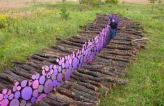 Artist Michael McGillis | Minnesota installation | lavender logs | via Design*Sponge