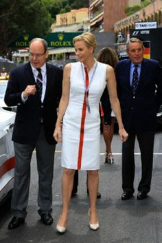 (L) Prince Albert II and Princess Charlene of Monaco at the Monaco Grand Prix, 25.05.2014