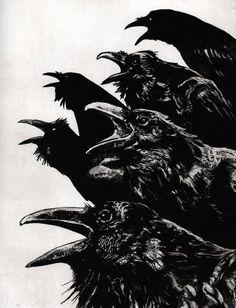 """"""" Ravens by Larry Vienneau """""""