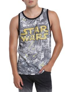 Star Wars Comic Collage Sublimation Tank Top