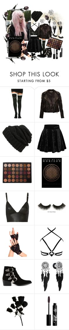 """Untitled #116"" by jellyfox-w ❤ liked on Polyvore featuring Leith, Morphe, T By Alexander Wang, Material Girl, Toga, Rouge Bunny Rouge and MAC Cosmetics"