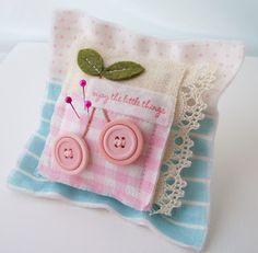 Button cherries pincushion...so cute! Creative Paper Trail
