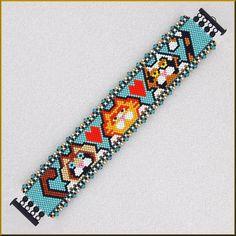 Penguin Row Peyote Bracelet Pattern by Kristyz on Etsy Peyote Bracelet, Peyote Beading, Loom Bracelets, Peyote Stitch Patterns, Bead Loom Patterns, Bracelet Patterns, Beading Patterns, Beaded Christmas Ornaments, Bracelets