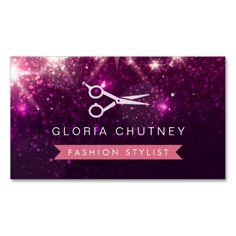 1210 best glitter sparkle business cards images on pinterest hair stylist scissors pink purple glitter business card colourmoves