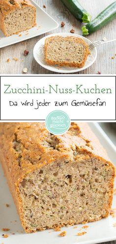 Zucchini cake with nuts - Kuchen Rezepte - Zucchini Cake, Cake Tasting, Donut Recipes, Pretty Cakes, Something Sweet, No Bake Cake, Super, Bakery, Food And Drink