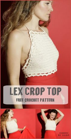 Stylish Crochet Lex Crop Top - 110+ Free Crochet Patterns for Summer and Spring - Page 5 of 12 - DIY & Crafts