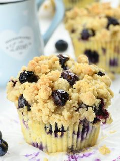 Blueberry Cream Cheese Muffins, Best Blueberry Muffins, Blueberry Recipes, Blue Berry Muffins, Blueberry Chocolate, Chocolate Muffins, Chocolate Desserts, Streusel Topping For Muffins, Cream Cheese Recipes