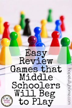 Read about these simple but engaging review games that you can use in class tomorrow! #review #Iteachtoo #games #classroom #middleschool #highschool