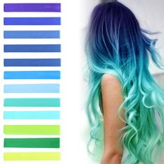 Grab everything you need for an amazing mermaid pastel ombre in a single package - ranging from dark purple blues, to seafoam, turquoise, mint and