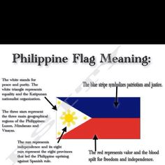 The flag of the Philippines – the only flag in the world, where colors can be reversed in wartime.