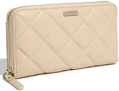 love this cream quilted wallet #wishlist