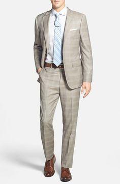 Samuelsohn Classic Fit Plaid Wool Suit